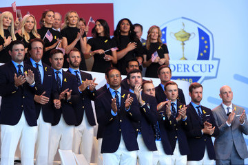 Tiger Woods Bryson DeChambeau 2018 Ryder Cup - Opening Ceremony