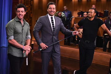 Tiger Woods Rory McIlroy Tiger Woods and Rory Mcllroy Visit 'The Tonight Show'