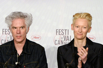Tilda Swinton Jim Jarmusch 'Only Lovers Left Alive' Press Conference in Cannes