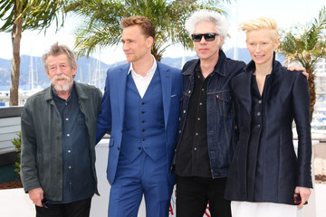 Tilda Swinton Tom Hiddleston 'Only Lovers Left Alive' Photo Call in Cannes