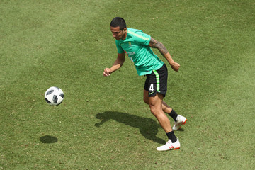 Tim Cahill Australian Socceroos Media Opportunity And Training Session