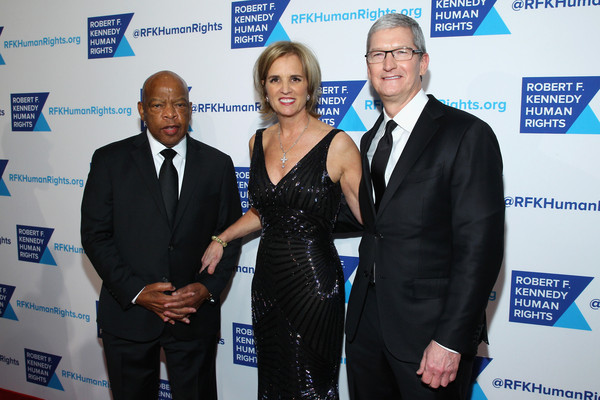 Robert F. Kennedy Human Rights Hosts Tthe 2015 Ripple of Hope Awards [event,award,arrivals,tim cook,roger altman,john lewis,marianna vardinoyannis,robert f. kennedy human rights hosts,apple,evercore,unesco,ripple of hope awards]