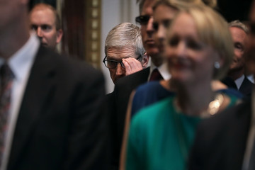 Tim Cook Jared Kushner Hosts Top Tech CEO's at Launch of American Technology Council