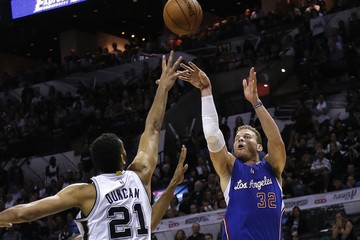 Tim Duncan Blake Griffin Los Angeles Clippers v San Antonio Spurs - Game Six