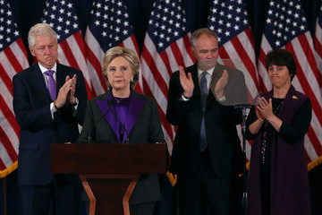 Tim Kaine Hillary Clinton Makes A Statement After Loss In Presidential Election
