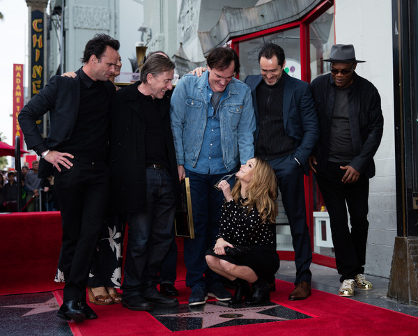Quentin Tarantino Honored With Star on the Hollywood Walk of Fame [red carpet,carpet,red,premiere,event,flooring,performance,quentin tarantino honored with star,hollywood walk of fame,quentin tarantino,zoe bell,craig stark,jennifer jason leigh,walton goggins,tim roth,james parks,demian bichir]