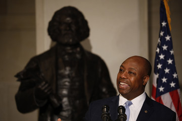 Tim Scott Frederick Douglass's Birthday Is Honored on Capitol Hill