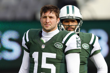 Tim Tebow Mark Sanchez San Diego Chargers v New York Jets