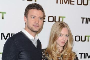 Justin Timberlake Amanda Seyfried 'Time Out' Paris Photocall At Hotel Bristol
