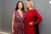"Ashley Judd and Mira Sorvino attend ""Time's Up"" during the 2018 Tribeca Film Festival at Spring Studios on April 28, 2018 in New York City."
