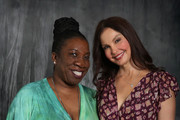 "Tarana Burke and Ashley Judd pose for a portrait at ""Time's Up"" during the 2018 Tribeca Film Festival at Spring Studios on April 28, 2018 in New York City."