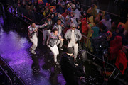 Donny Wahlberg, Danny Wood, Jordan Knight, Jonathan Knight and Joey McIntyre of the New Kids on the Block perform during  the Times Square New Year's Eve 2019 Celebration on December 31, 2018 in New York City.