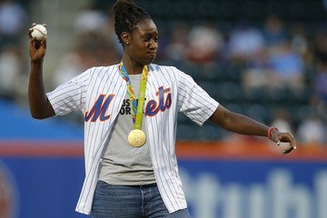 Tina Charles Miami Marlins v New York Mets