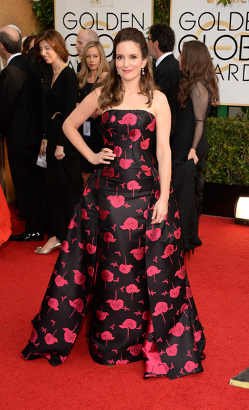 Tina Fey - 71st Annual Golden Globe Awards - Arrivals