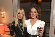 (L-R) Rita Ora and Kate Beckinsale attend Tings Magazine Private Dinner at the Private Residence of the CEO of Absolut Elyx on January 28, 2020 in Los Angeles, California.
