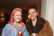 (L-R) Miranda Dickson and  Evan Ross attend Tings Magazine Private Dinner at the Private Residence of the CEO of Absolut Elyx on January 28, 2020 in Los Angeles, California.