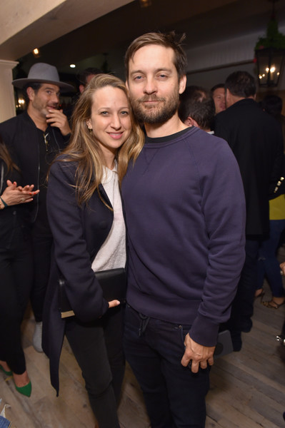 The Grand Opening of Au Fudge, Presented by Amazon Family [event,fashion,suit,outerwear,facial hair,formal wear,little black dress,fashion design,smile,jewelry,amazon family,tobey maguire,designerjennifer meyer,au fudge,west hollywood,california,grand opening,grand opening of au fudge]