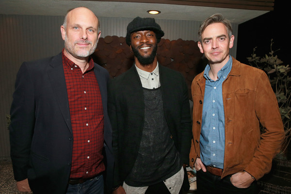 MR PORTER Celebrates 'The Hollywood Reporter's Annual Watch Issue [porter celebrates the hollywood reporter,event,facial hair,outerwear,suit,beard,mr,toby bateman,aldis hodge,degen pener,l-r,annual watch issue,los angeles,california]