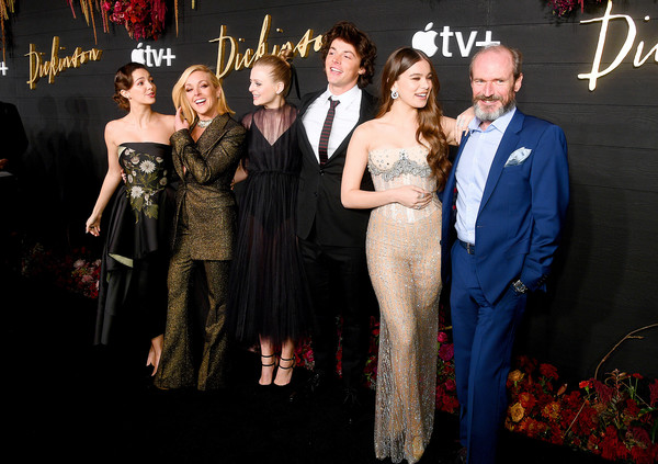 """Global Premiere Of Apple TV+'s """"Dickinson"""" - Brooklyn, New York – Red Carpet [premiere,event,fashion,carpet,dress,gown,formal wear,haute couture,red carpet,flooring,tv,ella hunt,hailee steinfeld,toby huss,dickinson,brooklyn,new york,apple,global premiere,debuts]"""