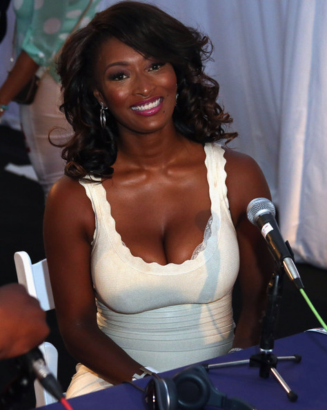 This Toccara Jones Model Attends Radio Remote Room