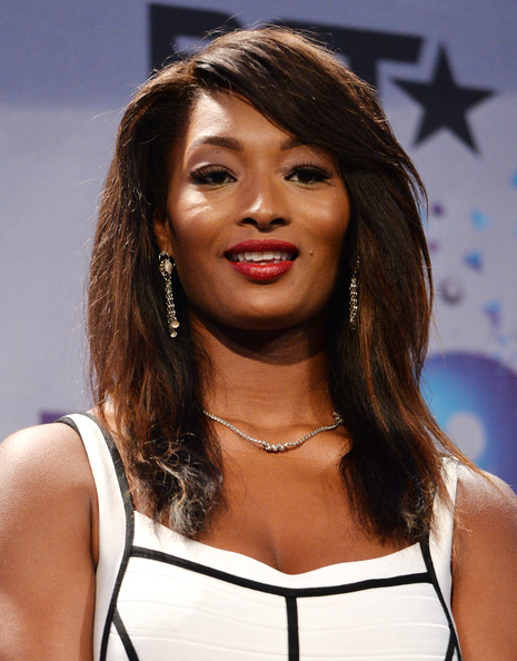 Toccara Jones Model Poses In The Press Room During