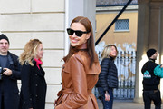Irina Shayk attends the Tod's show at Milan Fashion Week Autumn/Winter 2019/20 on February 22, 2019 in Milan, Italy.