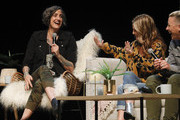 Nadia Bolz-Weber, Glennon Doyle, and Abby Wambach speak on stage at Together Live Houston at Lillie & Roy Cullen Theatre on October 17, 2019 in Houston, Texas.