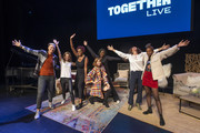 Abby Wambach, Glennon Doyle, Amena Brown, Ella Vos, Austin Channing Brown, Jennifer Rudolph Walsh and Sonia Denis on stage at Together Live at Clowes Memorial Hall on October 20, 2019 in Indianapolis, Indiana.