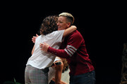Abby Wambach speaks at the Together Live event at the Pantages Theatre on October 21, 2019 in Minneapolis, Minnesota.