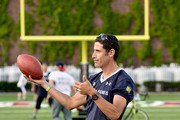 Cyclist George Hincapie attends the Tom Brady Football Challenge for The Best Buddies Challenge: Hyannis Port 2015 at Harvard Field on May 29, 2015 in Allston, Massachusetts.