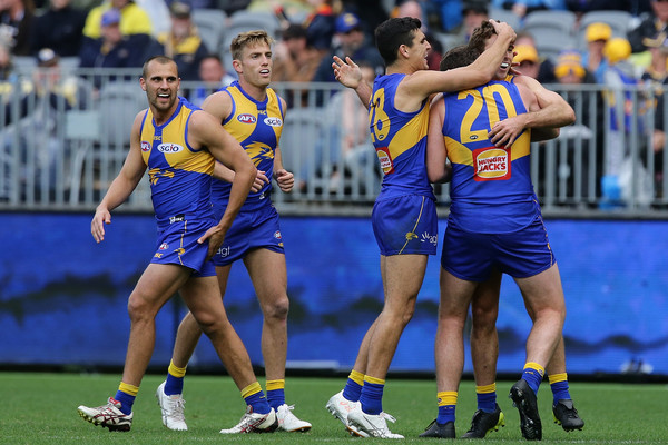 AFL Rd 18 - West Coast vs. Western Bulldogs [sports,team sport,ball game,australian rules football,player,sport venue,tournament,stadium,team,championship,jamie cripps,goal,west coast,optus stadium,australia,perth,afl,western bulldogs,match]