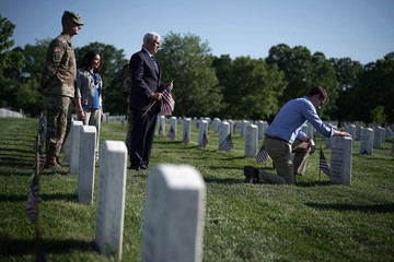 Tom Cotton Arlington National Cemetery Holds Its Annual Flags In Event Ahead Of Memorial Day