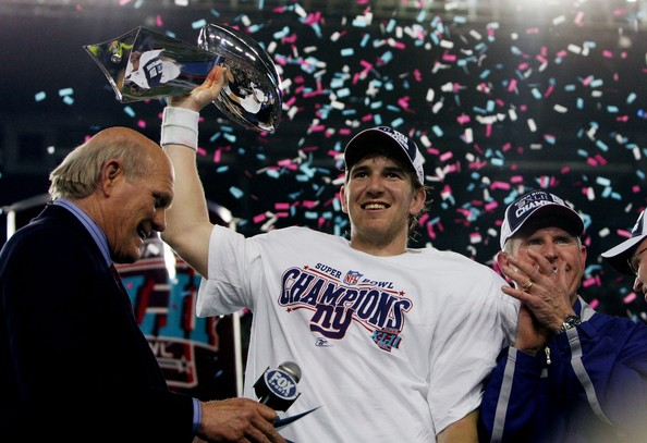 Super Bowl Preview [super bowl preview,product,fan,event,competition event,championship,player,rapper,team,crowd,super bowl,eli manning 10,vince lombardi trophy,super bowl xlii,university of phoenix stadium,arizona,glendale,new england patriots,new york giants]