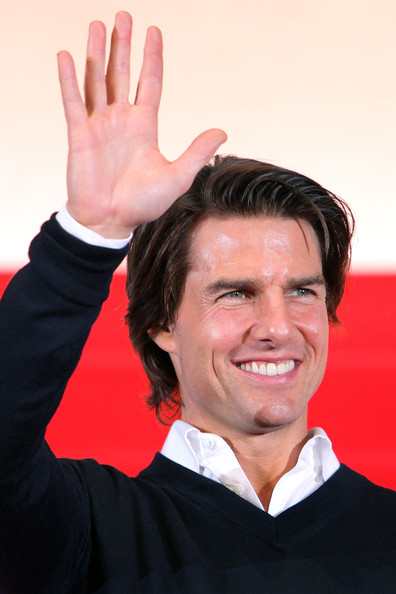 Tom Cruise Actor Tom Cruise waves to fans during the Japan Premiere of 'Knight and Day' at Roppongi Hills on September 28, 2010 in Tokyo, Japan. The film will open on October 9 in Japan.