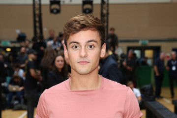 Tom Daley Front Row & Arrivals - Day 2 - LFW September 2016