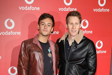 Tom Daley Dustin Lance Black New Vodafone Passes Launch at Bankside Vaults in London