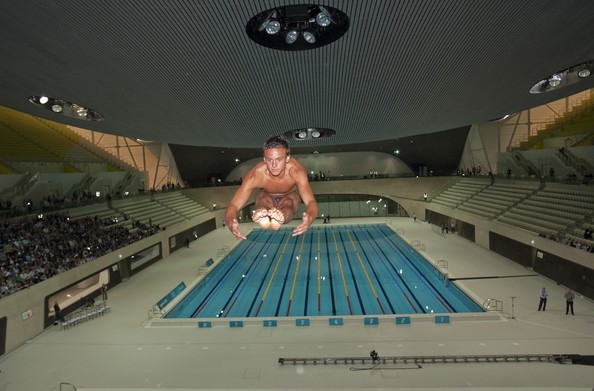 stratford olympic park swimming pool tom daley pictures london 2012 one year to go zimbio