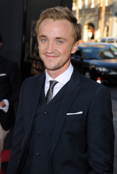 "Tom Felton Actor Tom Felton arrives at the premiere of 20th Century Fox's ""Rise Of The Planet Of The Apes"" held at Grauman's Chinese Theatre on July 28, 2011 in Los Angeles, California."