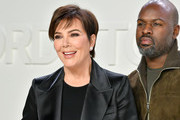 (L-R) Kris Jenner and Corey Gamble attend the Tom Ford AW20 Show at Milk Studios on February 07, 2020 in Hollywood, California.