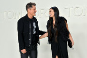 (L-R) Rob Lowe and Demi Moore attend the Tom Ford AW20 Show at Milk Studios on February 07, 2020 in Hollywood, California.
