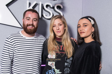Tom Green Daisy Maskell Ellie Goulding Visits KISS FM Radio