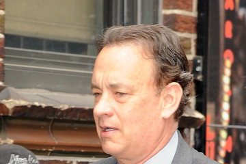 Tom Hanks Celebrities Visit 'The Late Show With David Letterman'