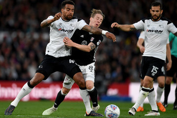 Tom Huddlestone Derby County Vs. Fulham - Sky Bet Championship Play Off Semi Final:First Leg