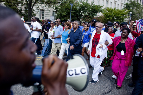 Tom Joyner - Sharpton Leads March Commemorating Anniversary Of MLK I Have A Dream Speech