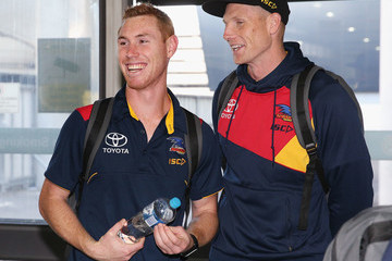 Tom Lynch Adelaide Crows Players Arrive at Melbourne Airport Ahead of the AFL Grand Final