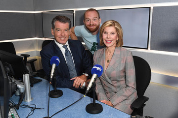 Tom Price Pierce Brosnan AndChristine Baranski Visit Magic Radio