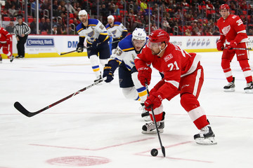 Tomas Tatar St Louis Blues v Detroit Red WIngs