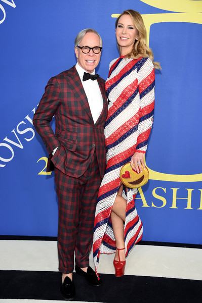 2018 CFDA Fashion Awards - Arrivals [fashion,flooring,carpet,product,plaid,outerwear,red carpet,vision care,pattern,tartan,arrivals,tommy hilfiger,dee ocleppo,new york city,brooklyn museum,cfda fashion awards]