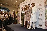 (L-R) Ketevan Giorgadze, Zendaya, Eva Geraldine Fontanelli and Natalia Ostrovski attend Tommy Hilfiger TOMMYNOW Spring 2019 : TommyXZendaya at The Galeries Lafayette on March 02, 2019 in Paris, France.