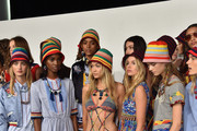 Models prepare backstage at Tommy Hilfiger Women's Spring 2016 during New York Fashion Week: The Shows  at Pier 36 on September 14, 2015 in New York City.